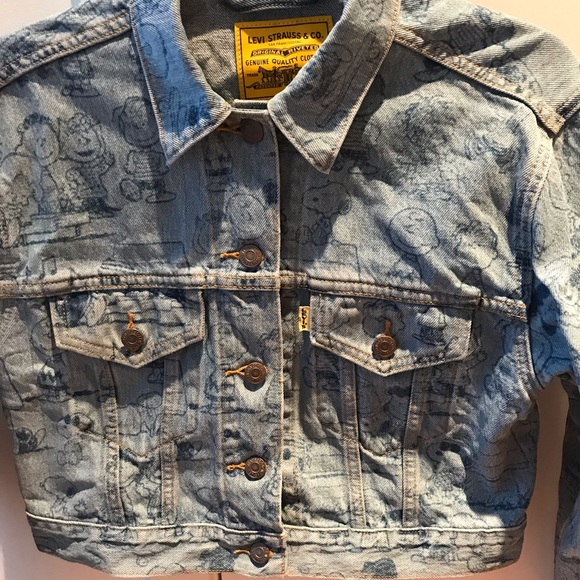 eb5772833 Levi's Jackets & Coats | Levis Limited Edition Snoopy Denim Jacket ...